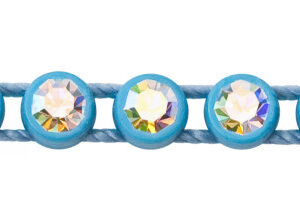 1 Row Plastic Banding Optima Crystal / Aqua