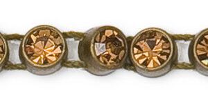 1 Row Plastic Banding Optima Crystal AB / Antique Gold