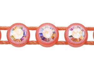 1 Row Plastic Banding Optima Crystal AB / Fluorescent Orange