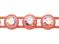 1 Row Plastic Banding Optima Crystal AB / Flourescent Orange