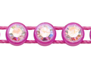1 Row Plastic Banding Optima Crystal / Flourescent Pink