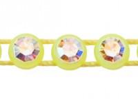 1 Row Plastic Banding Optima Crystal / Flourescent Yellow