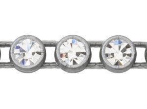 1 Row Plastic Banding Optima Crystal AB / Gray