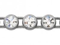 1 Row Plastic Banding Optima Crystal AB / Grey